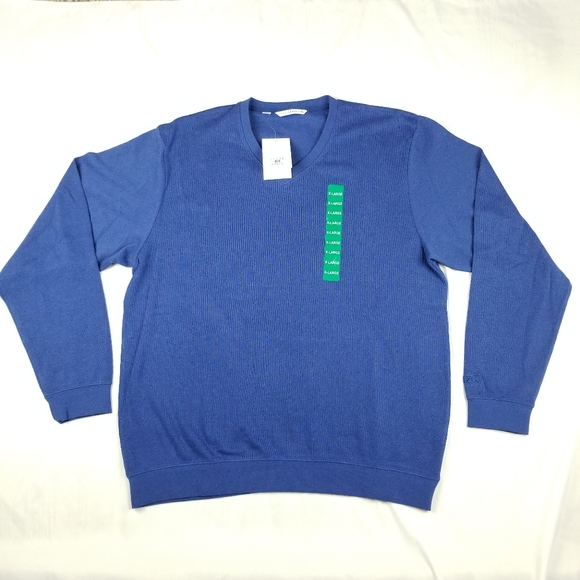 NWT Men's Cutter & Buck XL Pullover Sweater Blue